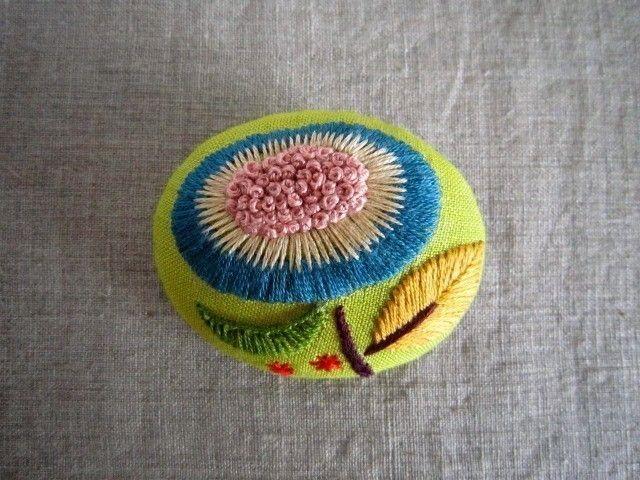 embroidered  flower on felt