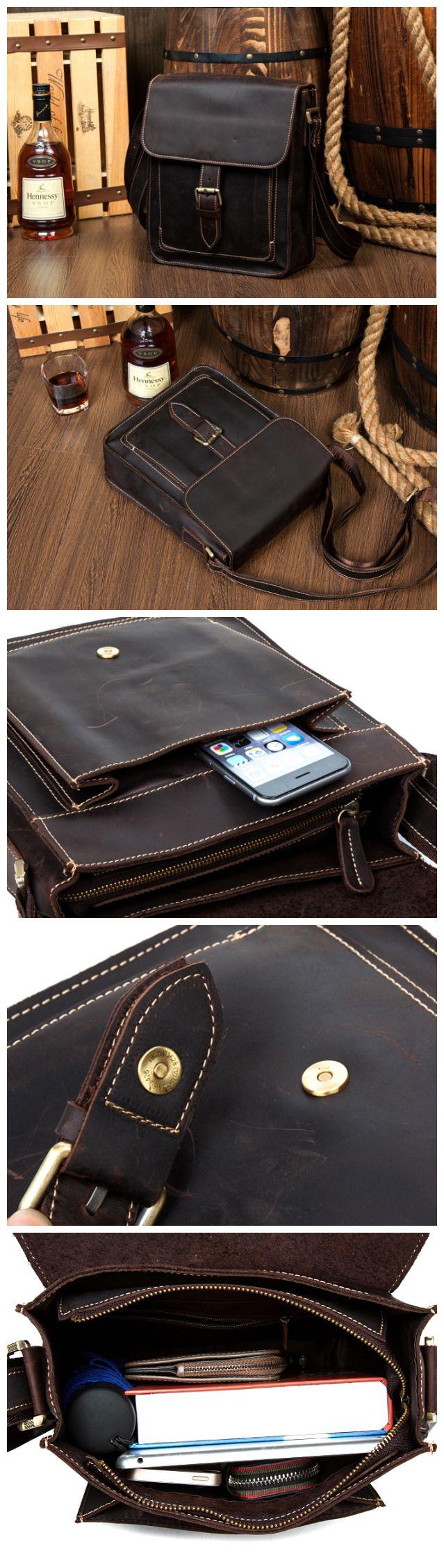 #Handmade Leather #messenger bag, leather shoulder bag, leather #briefcase