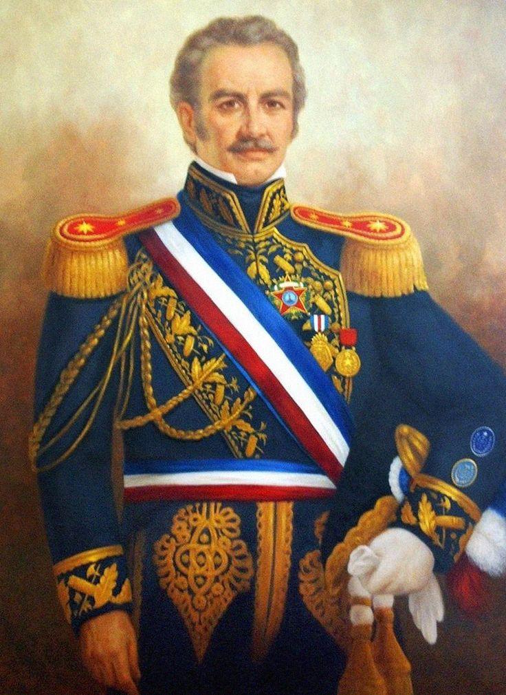 RAMÓN FREIRE (1787-1851). Director Supremo de Chile 1823-1826.