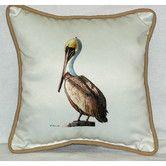 Found it at Wayfair - Coastal Pelican Border Indoor/Outdoor Throw Pillow