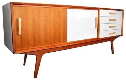 mid century modern retro sideboard buffet 4 drawer 4 door - Google Search