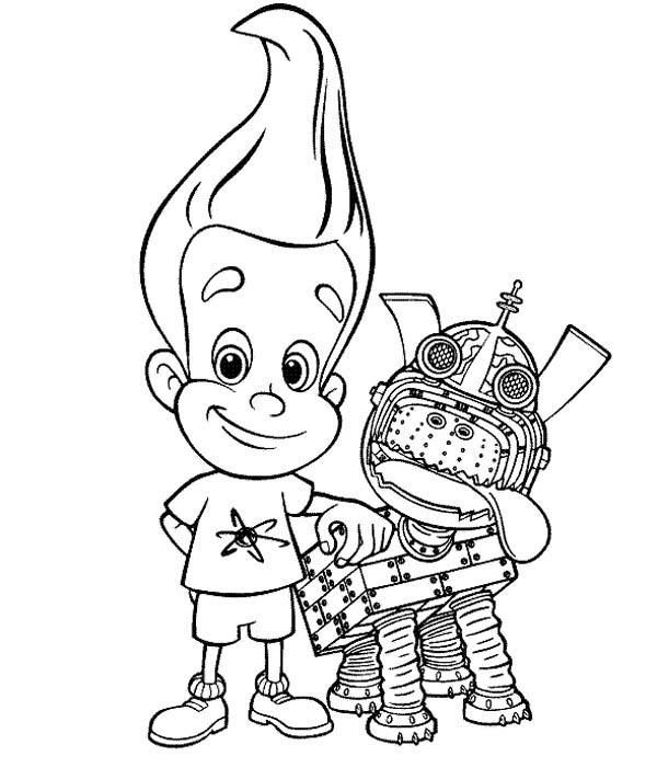 Jimmy Neutron Pet Goddard Coloring Pages Dinosaur Coloring Pages