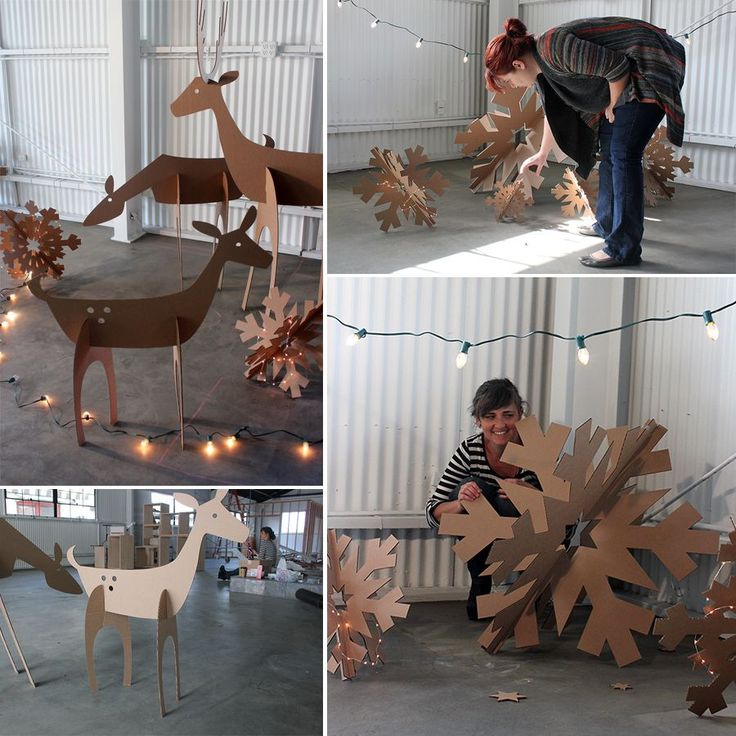 Make your decorations out of cardboard. No instructions only picutres