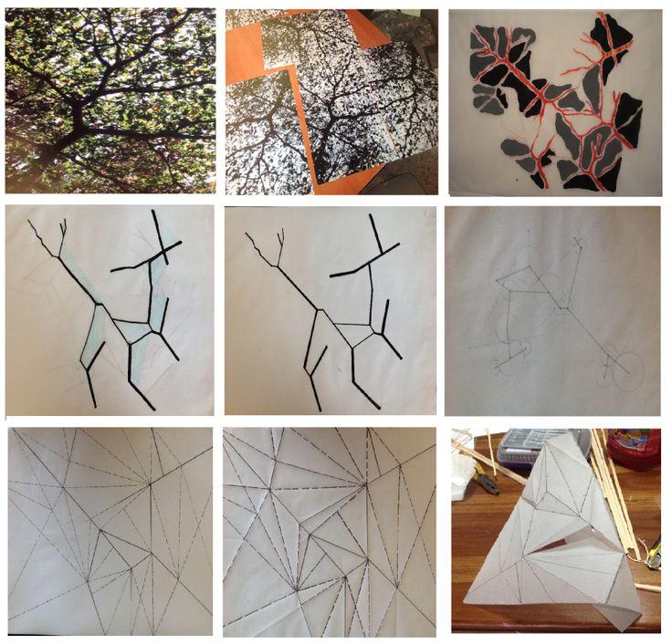 Modulo 2: La premisa del ejercicio busca pasar del análisis y composición bidimensional de imágenes hacia la configuración de objetos tridimensionales que van adquiriendo transformaciones formales gradualmente.
