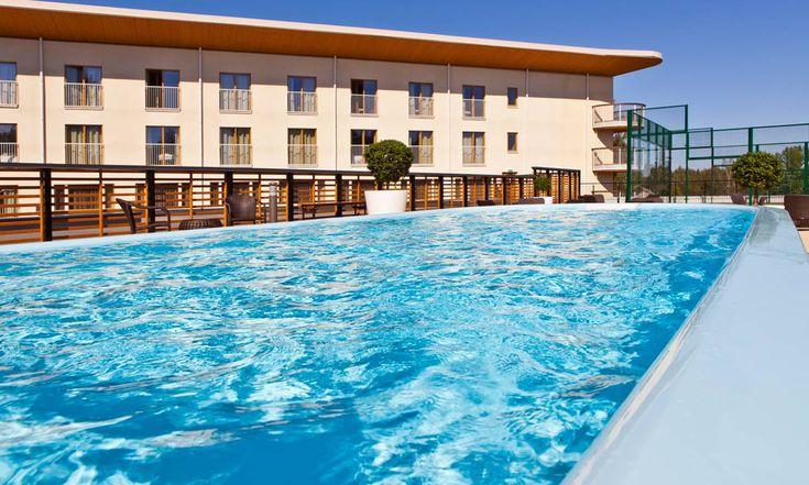 The amazing sun deck & pool at Holiday Club Saimaa, Finland