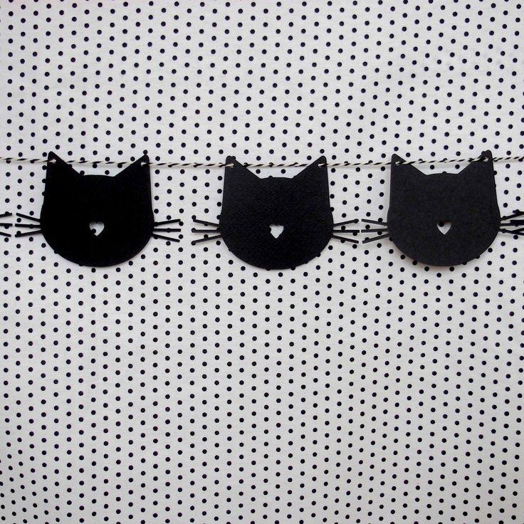 Guirlande et ses 16 mini chats en papier pour décorer votre sweet table sur le… …