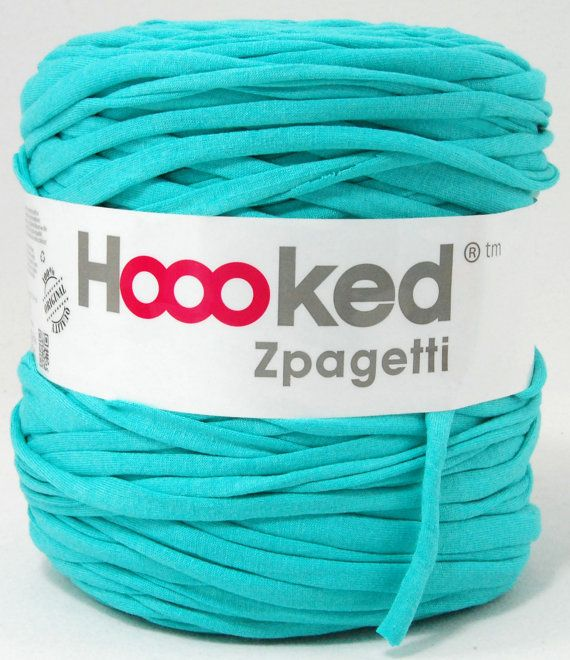 t-shirt yarn 135 yards, recycled cotton tricot named Zpagetti nr 53 via Etsy