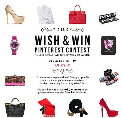 Krazy Coupon Club: ***JustFab -Wish & Win Contest - There will be 12 winners!! HURRY ENDS 12/19/12!!!!