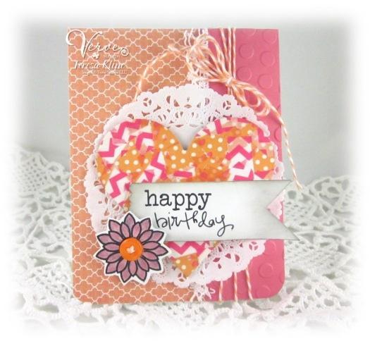 Birthday card by Teresa Kline using Verve Stamps.Birthday Inspiration, Birthday Cards