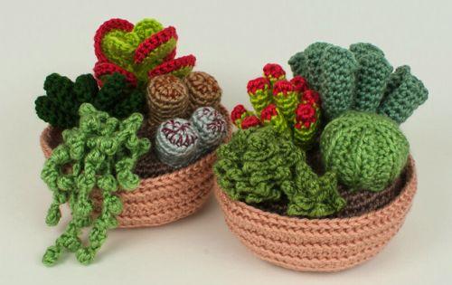 Crochet succulents via/ Nicole de Boer