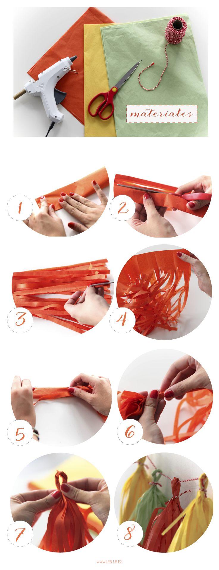 ¿Cómo hacer guirnaldas de papel de seda? - LeBlue