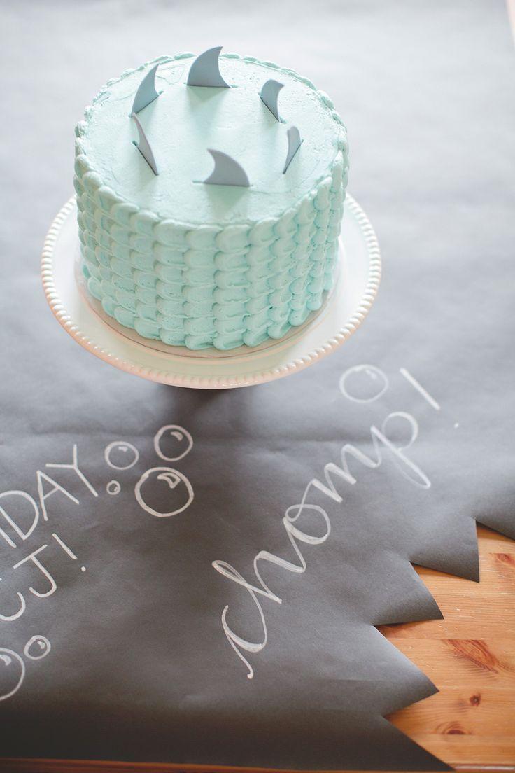 CJ's Shark Themed 5th Birthday Party | The Little Umbrella
