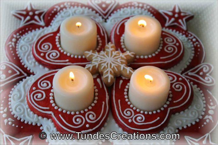 Advent wreath - Christmas centerpiece