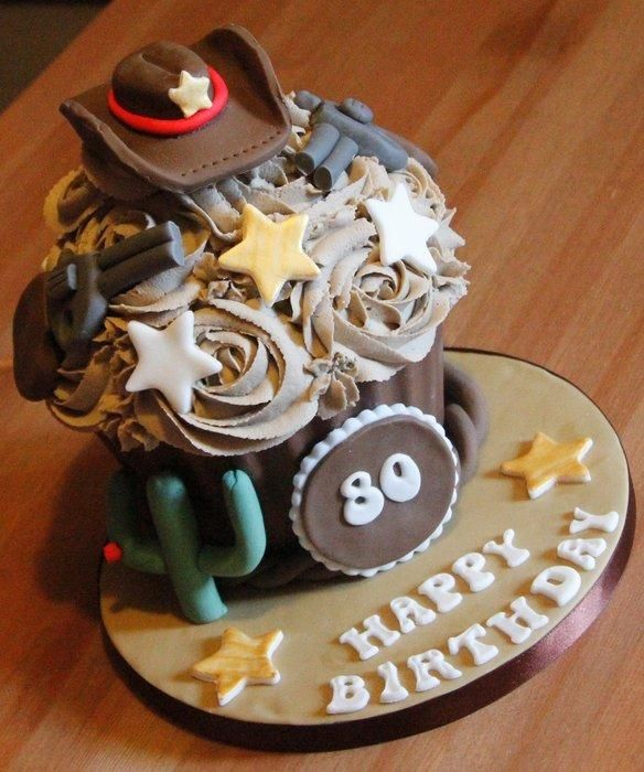 Giant John Wayne Cupcake