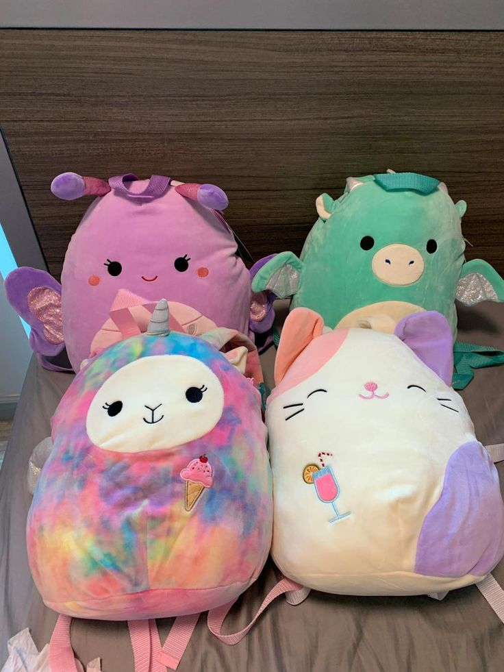 Brand new squishmallow backpack 12 miles the dragon