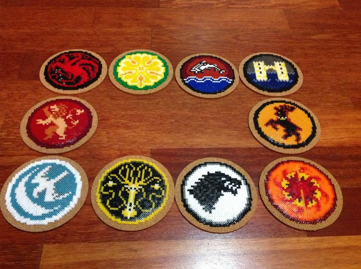 Made from those tiny beads you melt with your iron   Game of Thrones coasters = 10K hama beads - Imgur