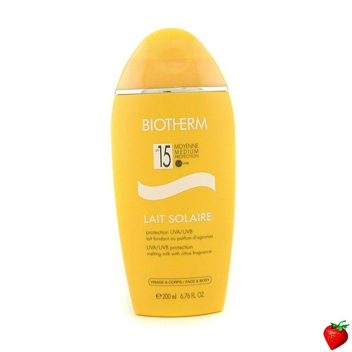 Biotherm Lait Solaire SPF 15 UVA/UVB Protection Melting Milk 200ml/6.76oz #Biotherm #Skincare #Sunscreen #SummerSpecials #Summer #Beach #Beauty #HotPick #FREEShipping #StrawberryNET