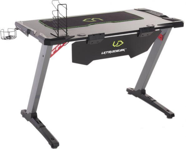 Biurko Space V2 Czarne Gamingowe Ze Stojakiem Na Akcesoria Ultradesk Sklep Z Meblami Mirat Desk Furniture Drafting Desk
