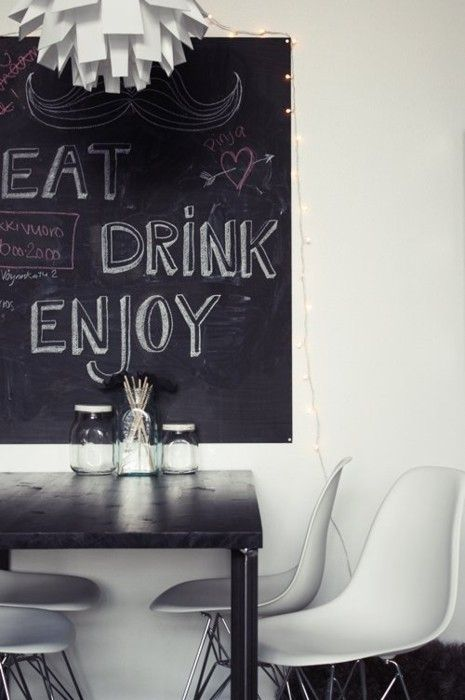 Would love a chalk board to write my grocery list on throughout the week...