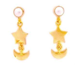 """sailor moon"" ""sailor moon crystal"" ""sailor moon earrings"" ""sailor moon anime"" ""sailor moon 2014"" gold jewelry earrings ""premium bandai"" swarovski pearl shop fashion japan"