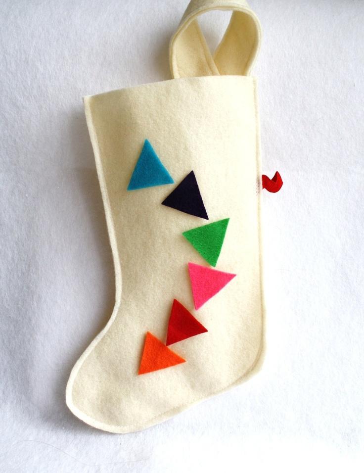 geometric Christmas stocking