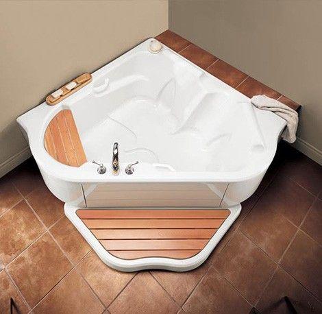 Corner Air Jet Bath Tub TMU from BainUltra - two-person bath