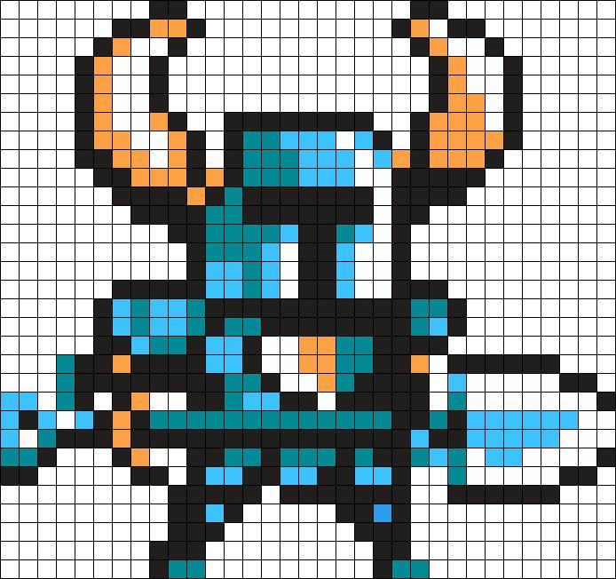 Shovel Knight Perler Bead Pattern / Bead Sprite