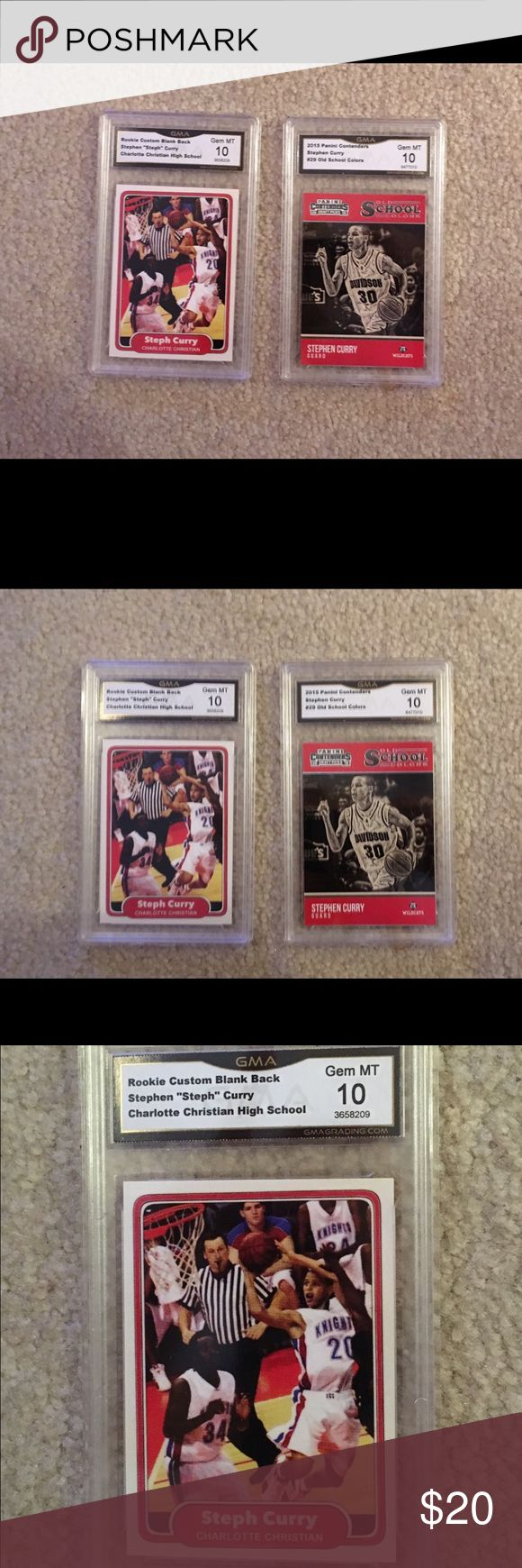 2 Vintage Stephen Curry high school cards Rare. Price firm Accessories