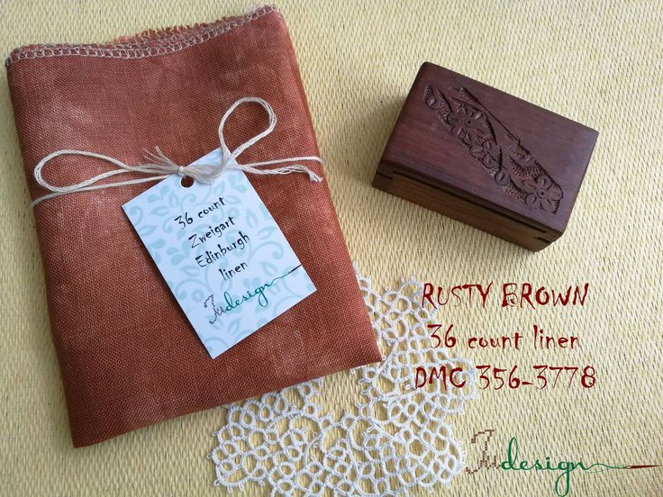 36 count RUSTY BROWN hand dyed linen for cross stitch, hardanger, blackwork, embroidery works 19x27 inch by xJudesign on Etsy