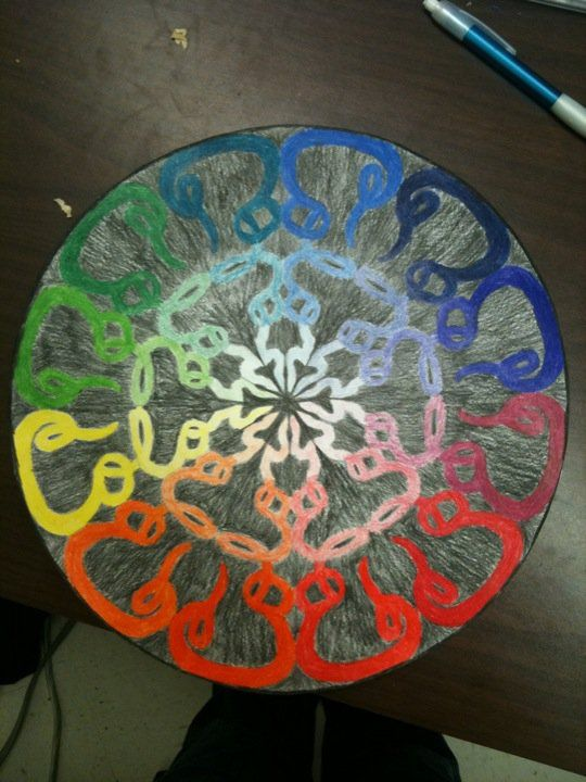 This Is A Color Wheel Project That I Do With My New Classes If There Any Interest Will Upload Lesson Plan Or Something