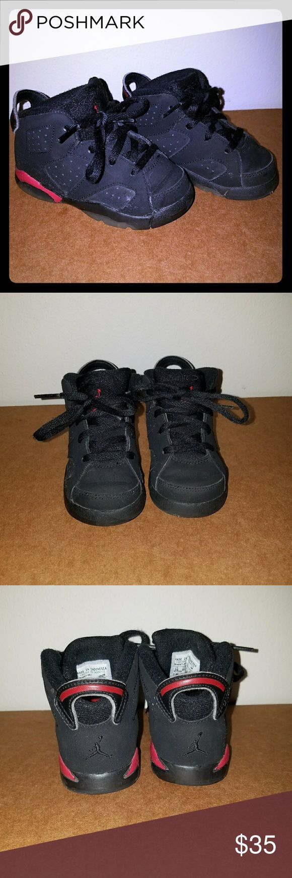 Authentic Retro Jordan VI/6 - Black Size 7c I am selling an authentic pair of Jordan Retro VI. They are in great condition. Size 7c. Please let me know if you have any questions. Jordan Shoes Sneakers