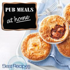 Make pub meals at home - from lambshanks to meat pies, get all the great Australian pub meal recipes.