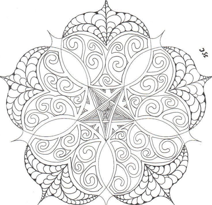 fancy mandala coloring pages - photo#24