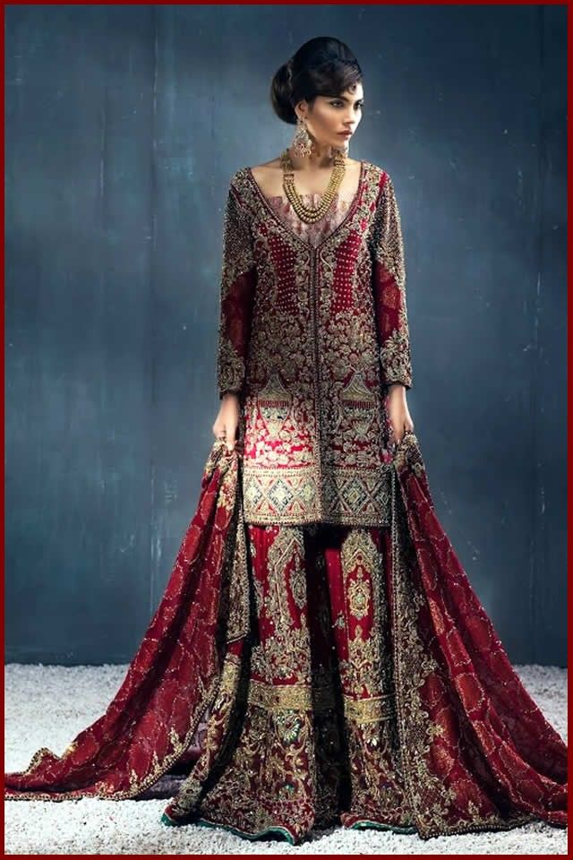Frock style dresses pakistani 2018 marriage