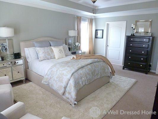 Area Rug On Carpet Bedroom Beds