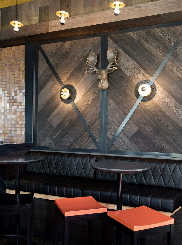 Fixed seat and wall cladding  Restaurants  Bars
