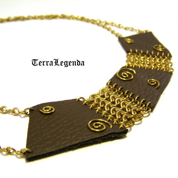 Amazon jewelry set unique chainmaille necklace by TerraLegenda