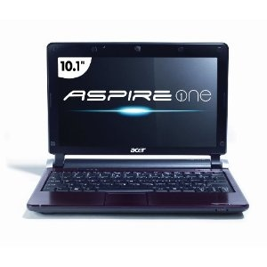 Acer AOD250-1070 10.1-Inch Red Netbook - Up to 9 Hours of Battery Life (Personal Computers)