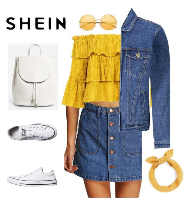 """""""She In"""" by anastasia-chicfashion on Polyvore featuring Sans Souci, Converse and Everlane"""