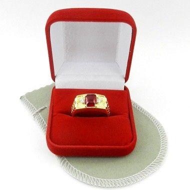 Editando produto: Anel Masculino Aro 24 Vermelho Folheado Ouro AN160-24VM (#13986376) - Loja Integrada