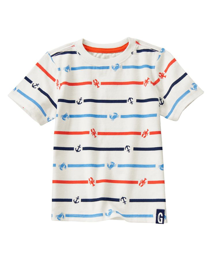 Nautical Icon Striped Tee at Gymboree