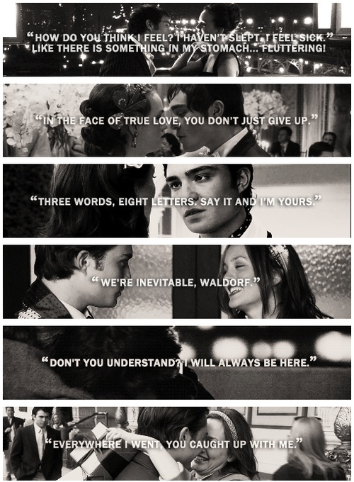 Chuck Bass and Blair Waldorf. Gossip Girl. hope i find a love like this one day