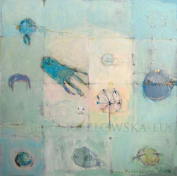 Sea/ Acrylic Painting/ Original Painting/ 50 by AnnaKozlowskaLuc