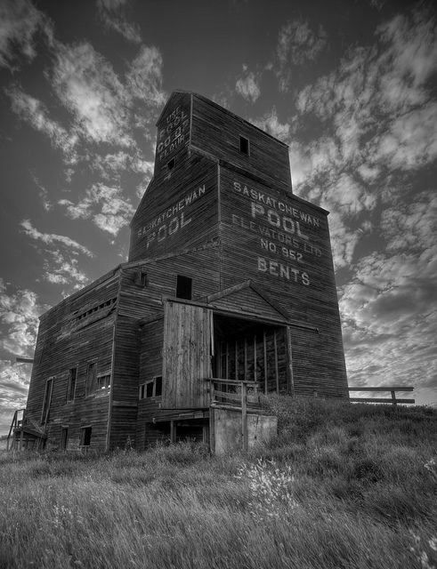 Iconic grain Elevator, Bents, Saskatchewan