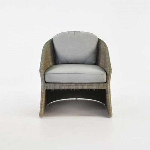wicker club chair with cushion
