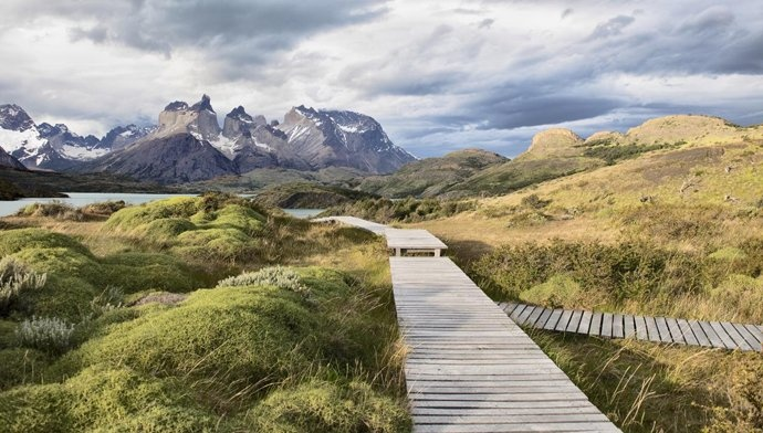 "Hiking the Torres del Paine ""W"" Circuit, Patagonia."