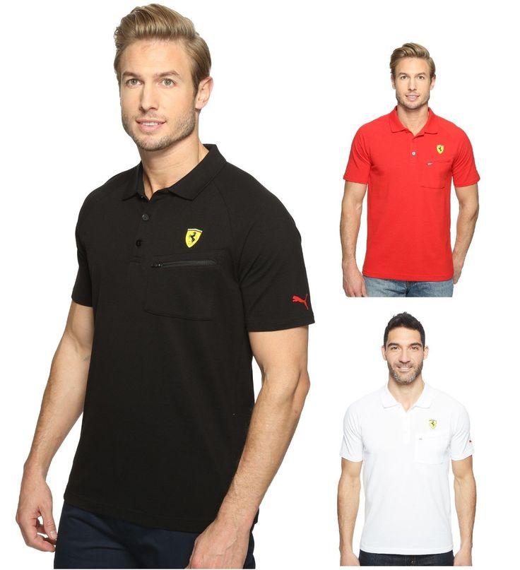 nice NEW Puma Ferrari Sport SF Polo Shirt T-Shirt Zip pocket Black Crimson White 762135 Check more at https://aeoffers.com/product/clothing-and-shoes/new-puma-ferrari-sport-sf-polo-shirt-t-shirt-zip-pocket-black-crimson-white-762135/