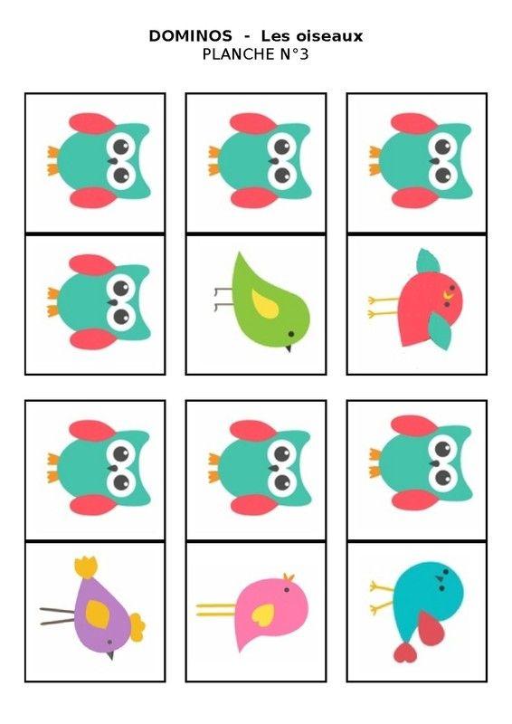 Nounou Lolo 88: Planche n°3 - Le domino des oiseaux