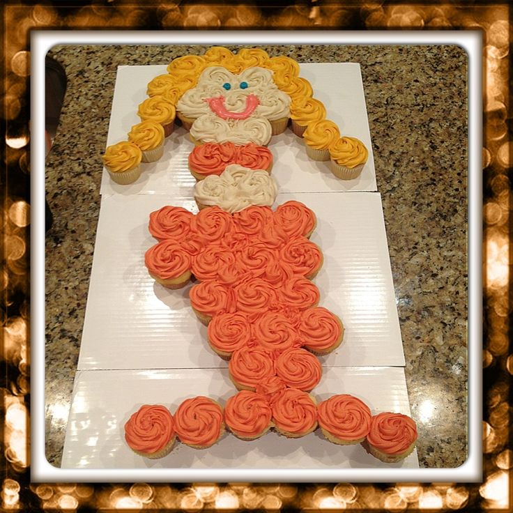 Adorable H2O Mermaid pull-apart cake! Perfect for little girls' pool parties! $50 (depending on # of cupcakes)