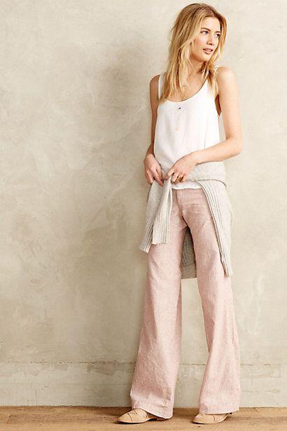 Pilcro Linen Trousers #anthropologie